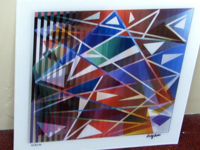 """YAACOV AGAM AGAMOGRAPH,""""Ancient Battle"""" SIGNED&NUMBERED"""