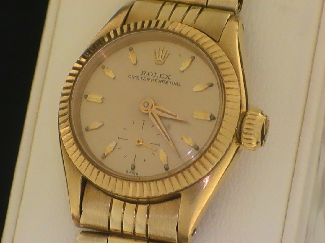 Rolex Oyster Perpetual 18K Gold Ref 6509 Circa 1950s