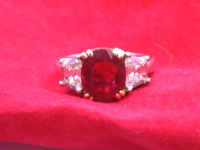 Platinum & 18k Ladies 3.08 Natural Burmese Ruby