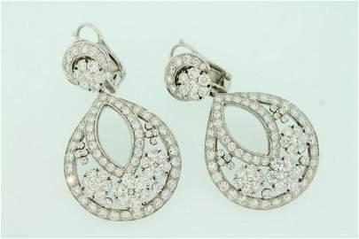 Van Cleef & Arpels Large Snowflake Diamond Ear Pendents