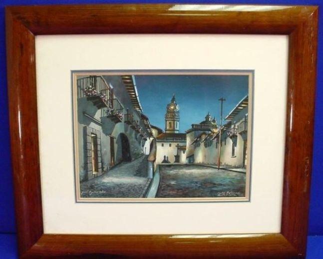 Original Quito Ecuador Painting Jose Aguirre Diaz