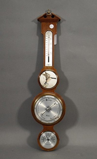 """Salem Wheel Barometer Made In England 26"""" High"""