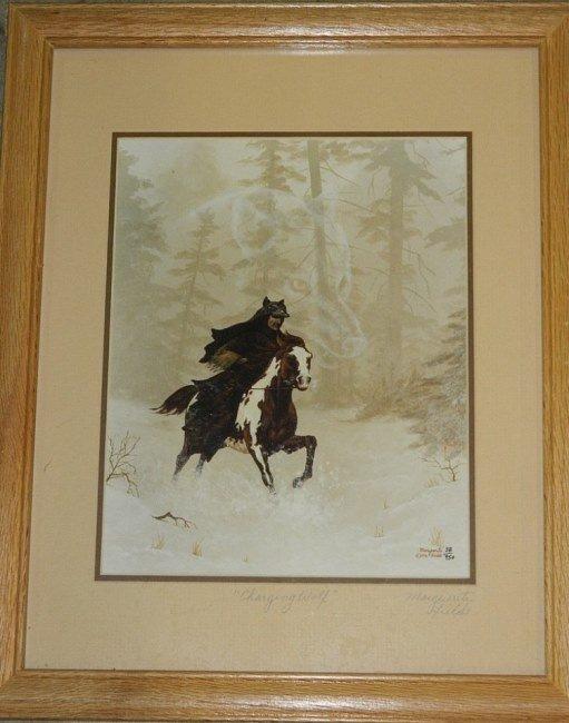 "3 Marguerite Fields Signed Framed Glass Prints 15"" - 4"