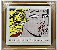 Roy Lichtenstein Crying Girl Signed Exhibition Litho