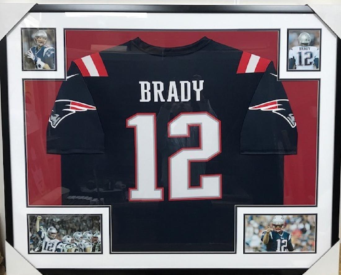 Tom Brady Authentic Jersey  framed memorabilia