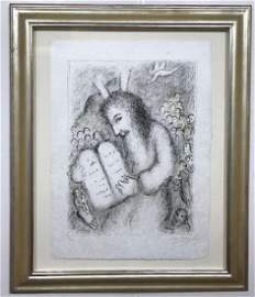 Marc Chagall Moses Hand signed and numbered