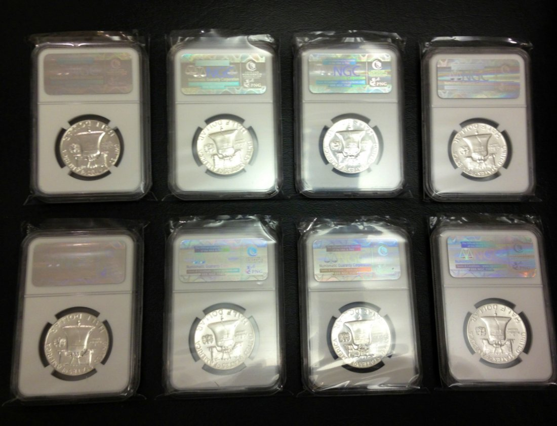 1956 TO 1963 FRANKLIN SET GRADED BY NGC IN PF 67