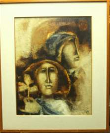 SUNOL ALVAR ORIGINAL ONE OF A KIND OIL PAINTING ON CANV