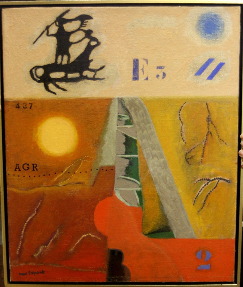 ORIGINAL ONE OF A KIND OIL BY MAX PAPART (1911-1994)