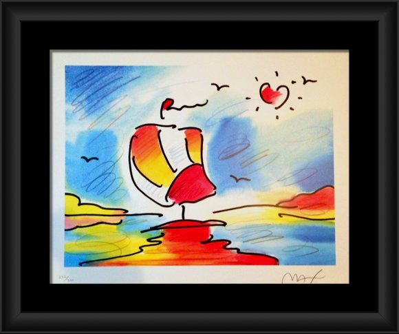 Peter Max hand signed and numbered lithograph