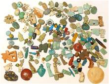 150+ EGYPTIAN FAIENCE AMULETS