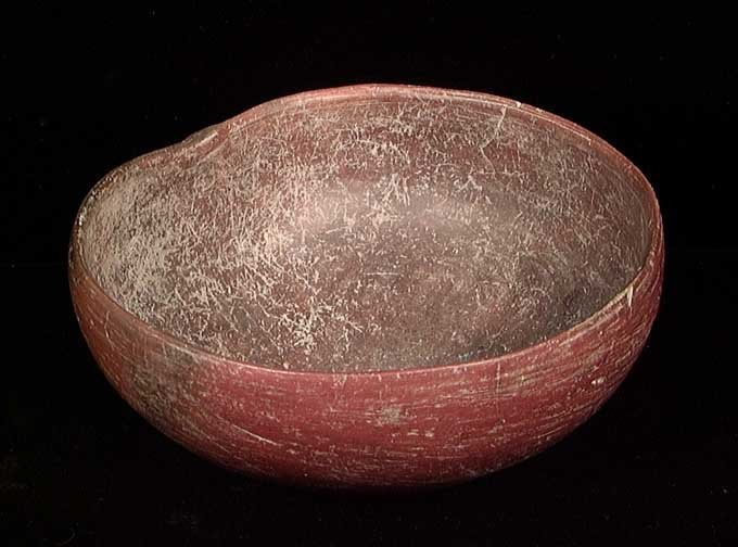 RARE CHORRERA MELON-FORM BOWL