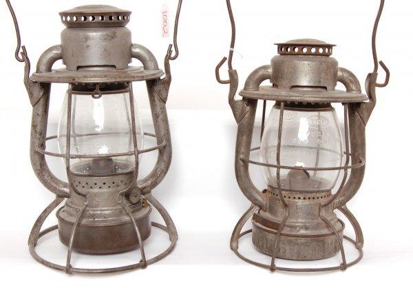 1002: Two New York Central Railroad lanterns