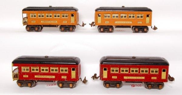 1005: Orange and red Lionel prewar 603 and 604