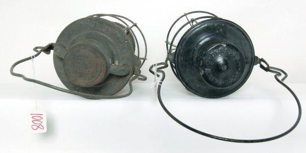 1008: PRR and NYNH&H railroad lanterns
