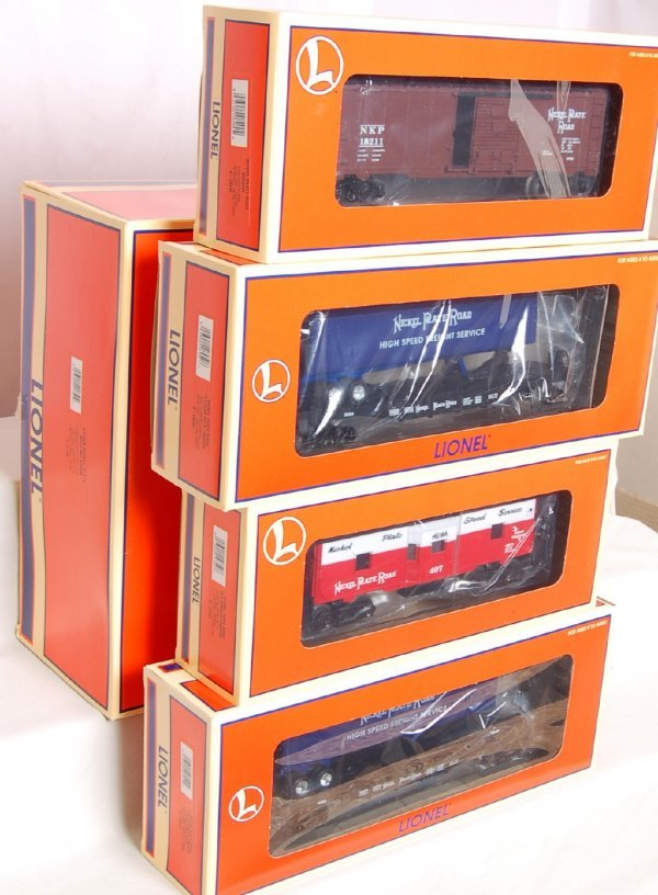 1015: Lionel 21750 4 Pack Nickel Plate Rolling Stock
