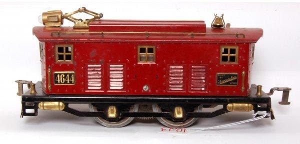 1023: American Flyer 4644 prewar maroon loco