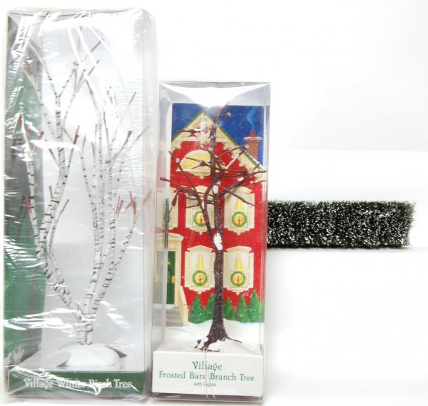 Dept 56  Village  Frosted Bare Branch Tree w//lights 52434