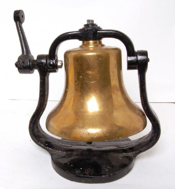 1320: Brass steam locomotive bell