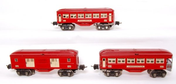 8: Lionel prewar red 2600, 2601 and 2602 in red