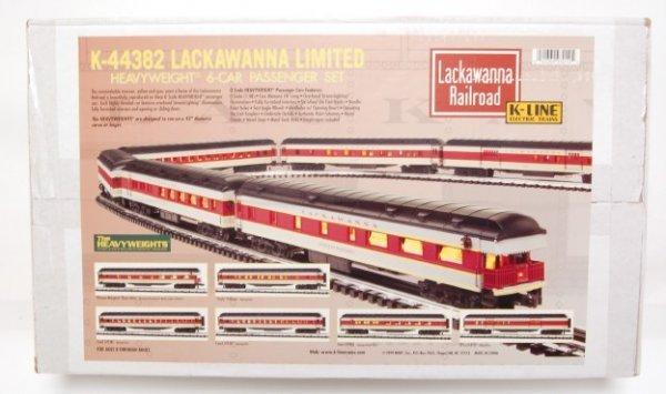9: K-Line K-44382 Lackawanna Limited 6 car pass. set