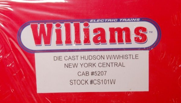 11: Williams CS101W diecast NYC Hudson with whistle