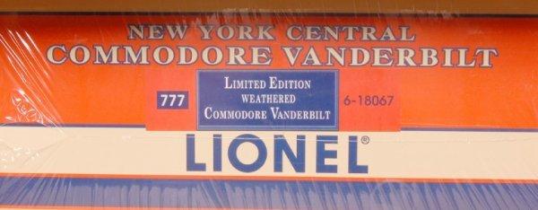 13: Lionel 18067 NYC Weathered Commodore Vanderbilt