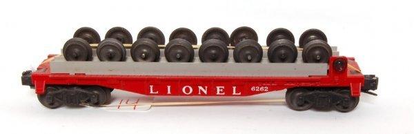 14: Unusual Lionel 6262 RED wheel car
