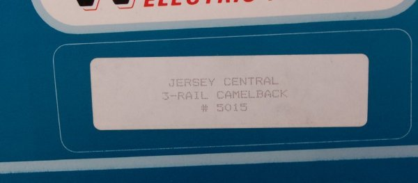 23: Williams 5015 Jersey Central Camelback