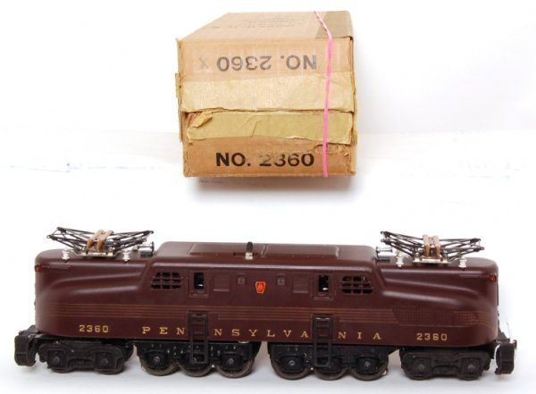 849: Lionel 2360 five stripe Pennsylvania GG1, OB