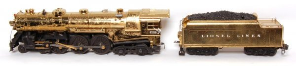 862: Lionel postwar gold plated 773 Hudson, 2426W
