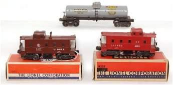 1373: Lionel 2755 Sunoco, 2357 tile red, 6457 in OB.