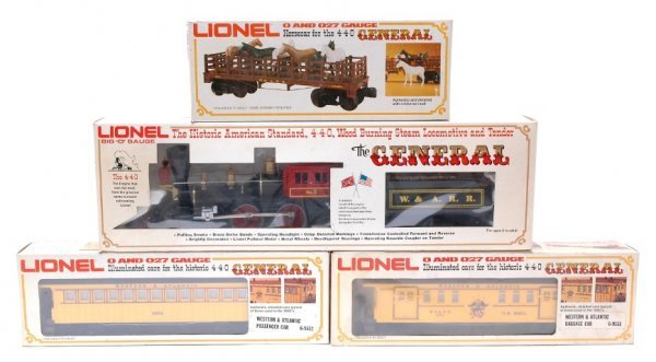 2001: Lionel 8701 General with 9551 9552 9553 Boxed