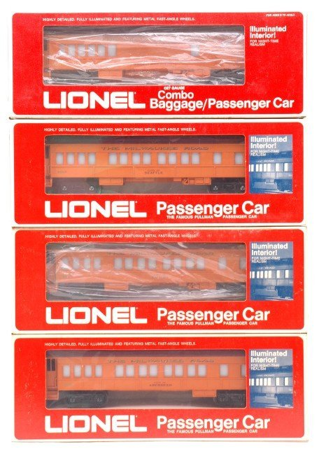 2007: Lionel Milwaukee Road 9501 9504 9505 9506 Boxed