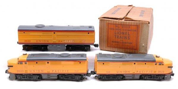 2017: Lionel 2023 Union Pacific Anniversary Alcos Boxed