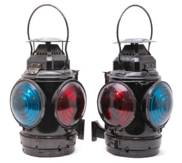 2415: Pair of Adlake Non Sweating Lamps Chicago