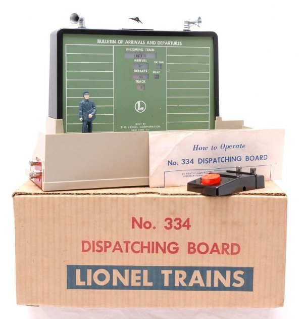 2717: Lionel 334 Dispatching Board Boxed