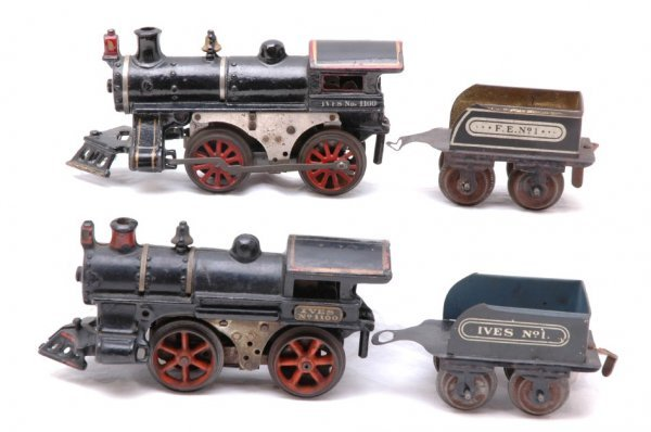 2718: Ives two 1100 Steam Locos with No 1 Tenders