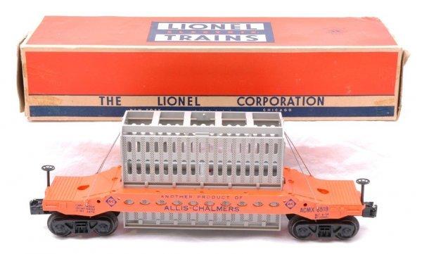 2721: Lionel 6519 Allis Chalmers Car MINT Boxed
