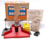2749: Lionel 397 Coal Loader Yellow Motor Cover Boxed
