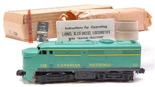 2928: Lionel 228P Canadian National Alco MINT Boxed
