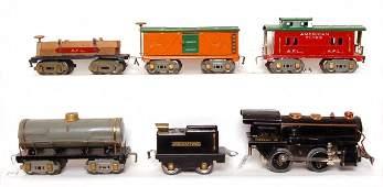 14: American Flyer prewar steam freight set