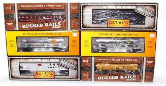 75 Lot of 6 MTH Rail King 308002 337303 7307 7204