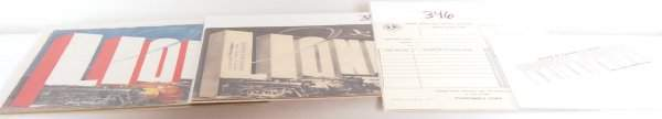 346 Group of Lionel prewar 1938 paper items
