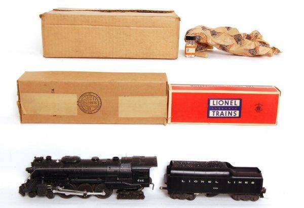 366: Lionel 646 Hudson, 2046W tender, OB MC