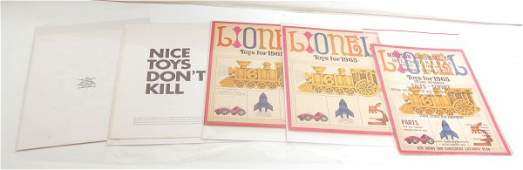 664 Great lot of Lionel 1965 paper items