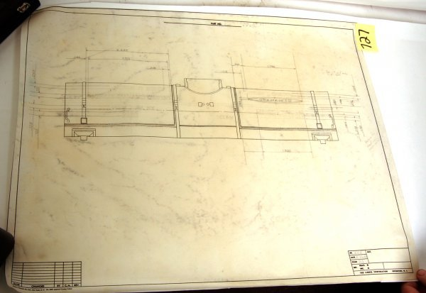 727: Original Lionel drawing for a Cyanamid tank car