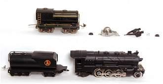 730: Lionel prewar steam loco, two tenders, modified