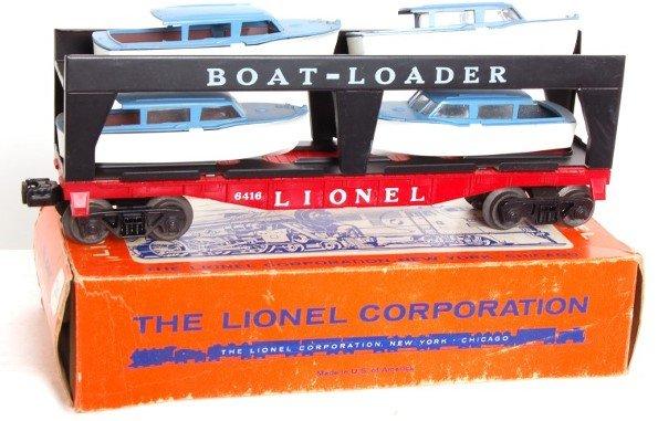 8: Lionel 6416 boatloader car in OB