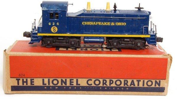 10: Lionel 624 Chesapeake and Ohio switcher, OB